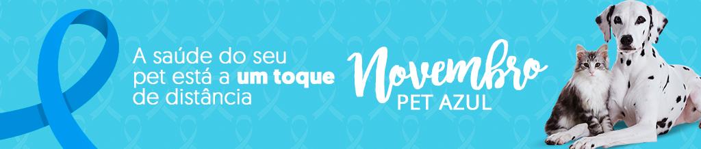 Banner campanha Novembro Pet Azul